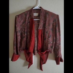 Vintage Cache Red Paisley Tie Jacket Blazer
